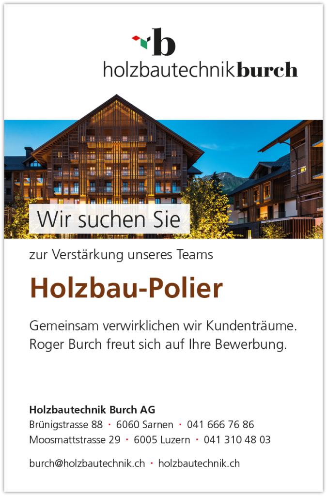Stelleninserate Holzbau-Polier