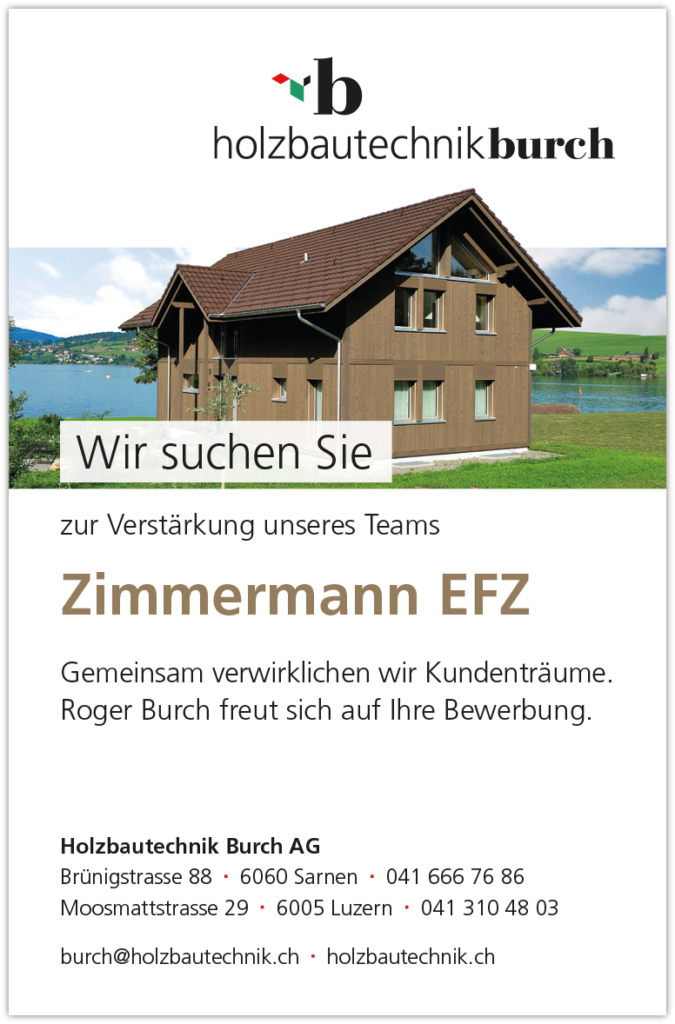 Stelleninserate Zimmermann