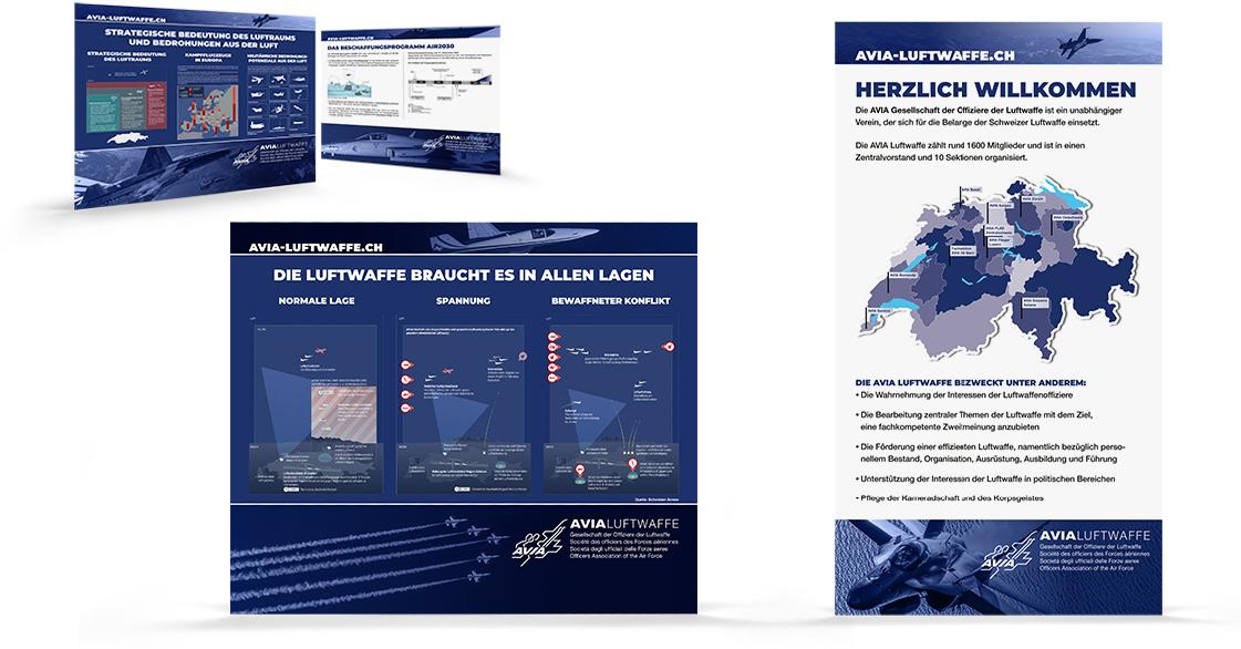 Plakate und Roll-Up der AVIA Luftwaffe