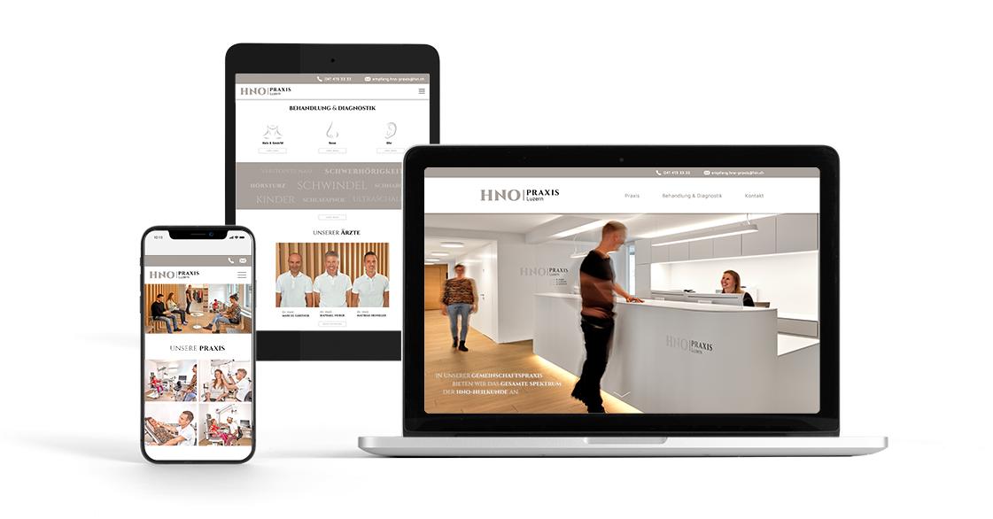 HNO Praxis Luzern Website