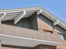 holzhaus oberwilen detail dach