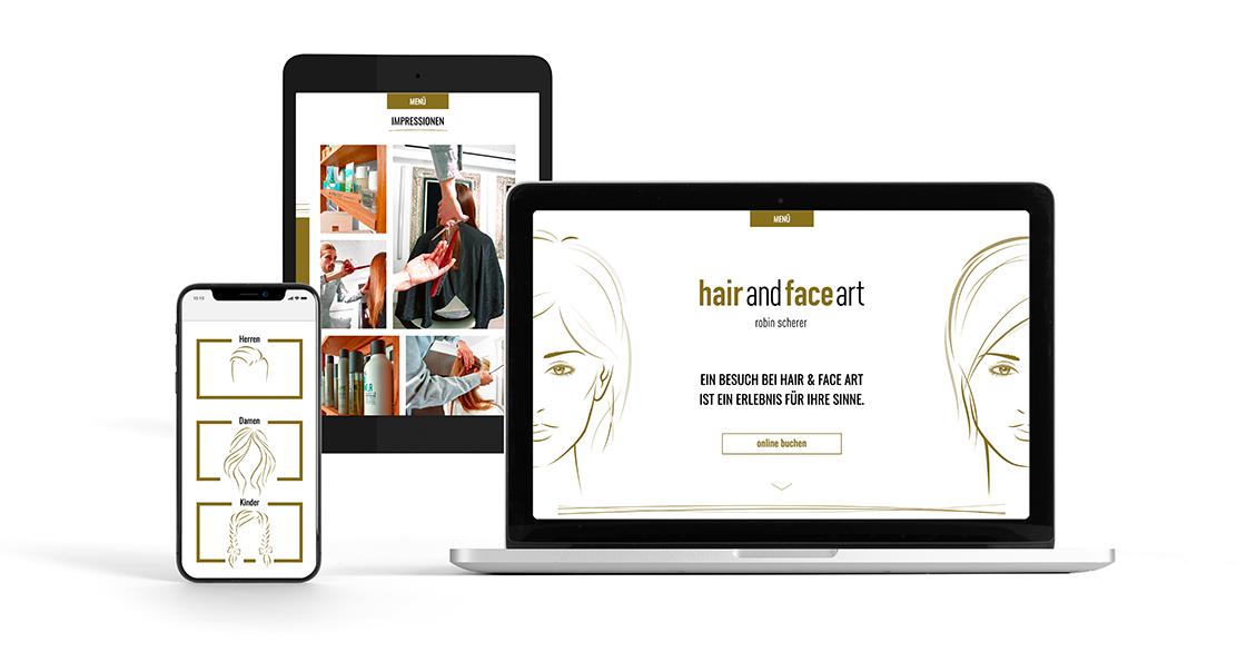 hairandfaceart grafik fotografie web