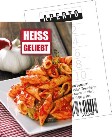 treuekarte menu