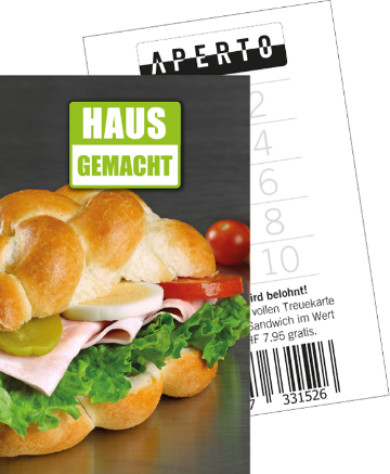 treuekarte sandwich